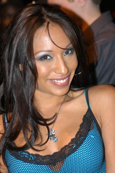 Jasmine Byrne auf einer Karaoke-Party im Oktober 2006.